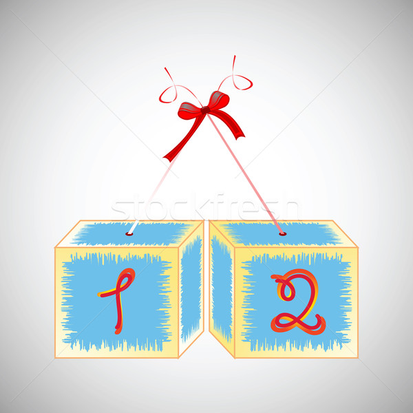 Alfabeto 12 abstrato arte ilustração Foto stock © robertosch
