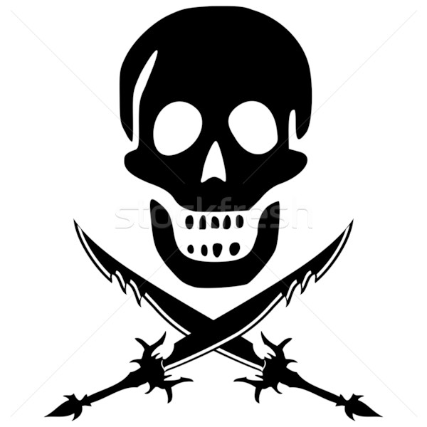 pirate skull with swords Stock photo © robertosch