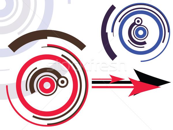 дизайна ретро-модель аннотация вектора искусства иллюстрация Сток-фото © robertosch