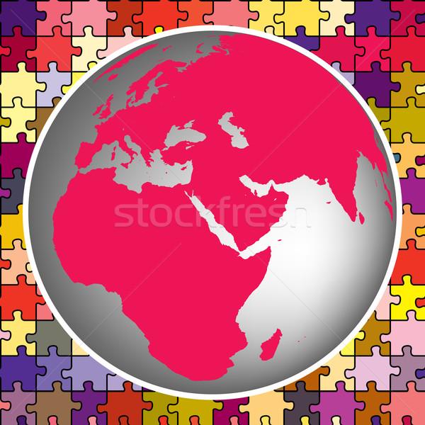 земле мира головоломки аннотация вектора искусства Сток-фото © robertosch