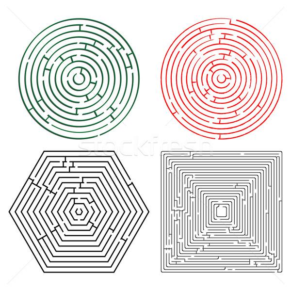 printable mazes collection Stock photo © robertosch
