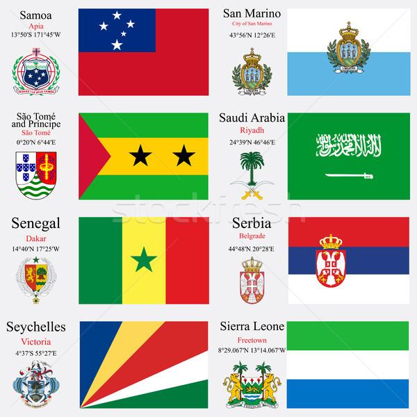 world flags and capitals set 21 Stock photo © robertosch