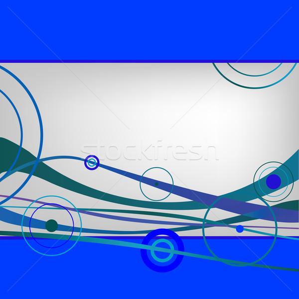 Blu onde vettore arte illustrazione Foto d'archivio © robertosch