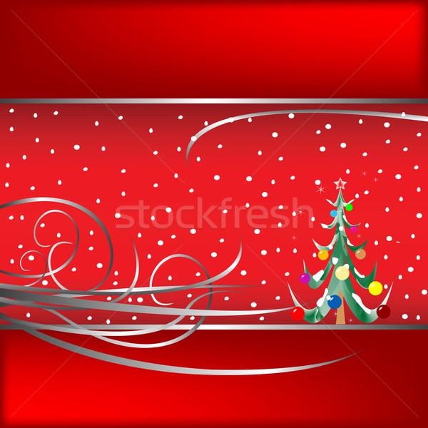 рождественская елка карт вектора искусства иллюстрация больше Сток-фото © robertosch