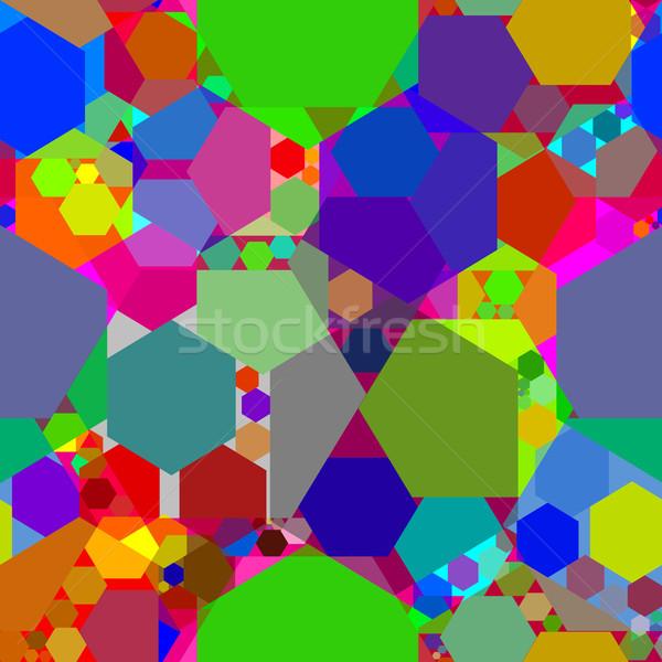 калейдоскоп аннотация текстуры вектора искусства иллюстрация Сток-фото © robertosch