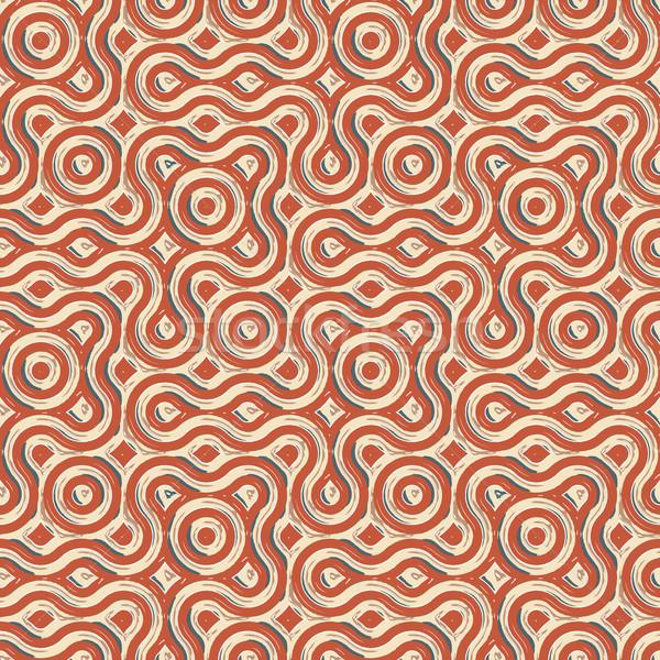 бесшовный текстуры 22 Поп-арт шаблон аннотация Сток-фото © robertosch