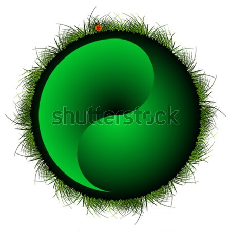 yin yang sphere with grass Stock photo © robertosch