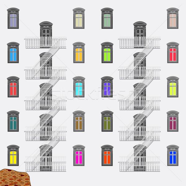 緊急 終了する はしご 抽象的な ベクトル 芸術 ストックフォト © robertosch