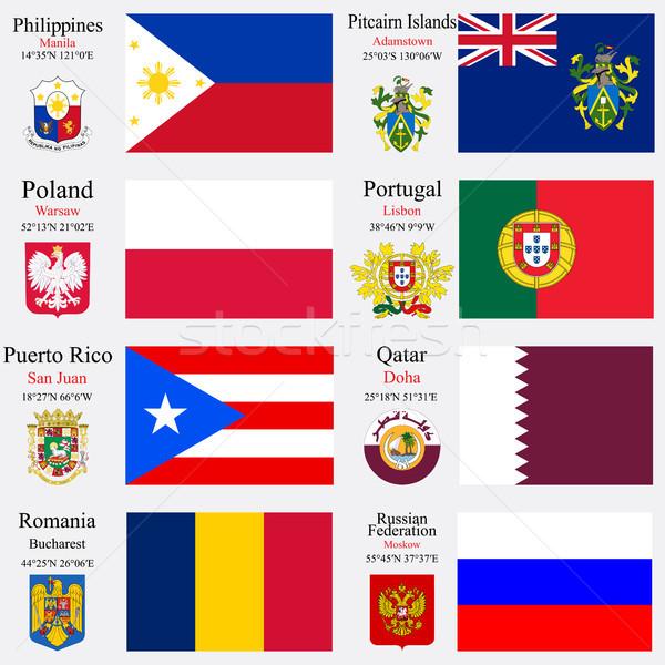 world flags and capitals set 19 Stock photo © robertosch