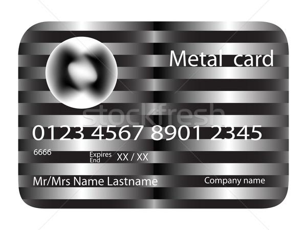 Metal karty kredytowej wektora sztuki ilustracja więcej Zdjęcia stock © robertosch