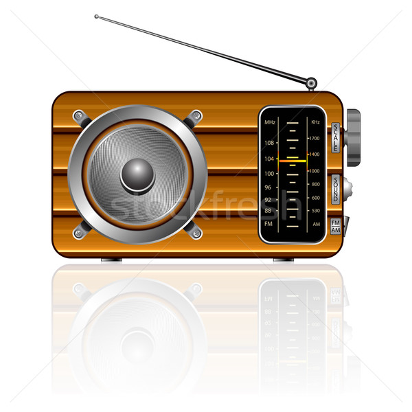 wooden retro radio Stock photo © robertosch