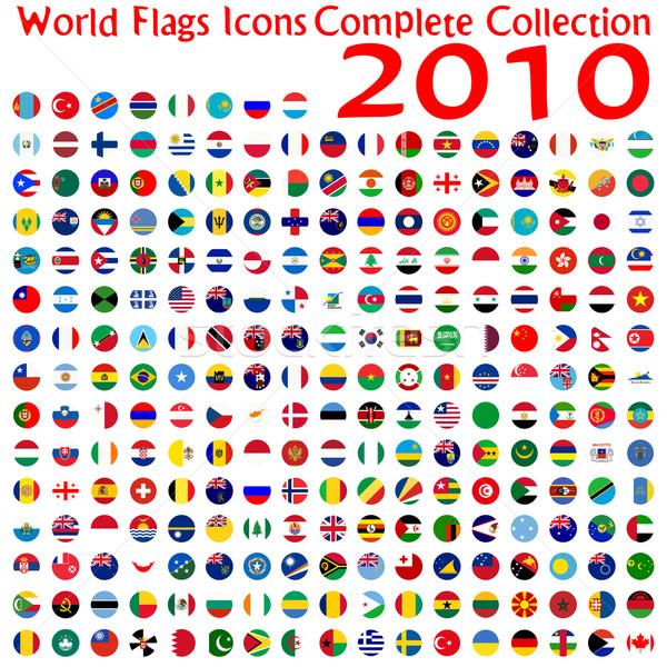 Wereld vlaggen iconen collectie abstract vector Stockfoto © robertosch