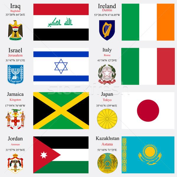 world flags and capitals set 11 Stock photo © robertosch