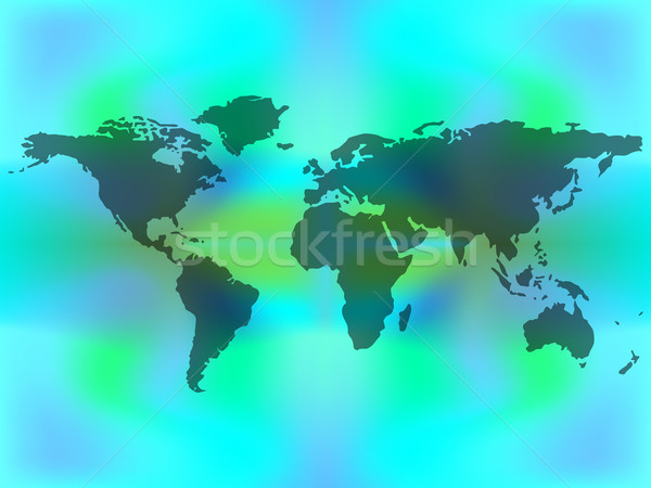 abstract map over colored background Stock photo © robertosch