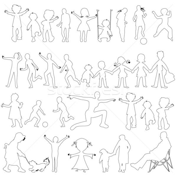народов черный эскиз аннотация искусства иллюстрация Сток-фото © robertosch