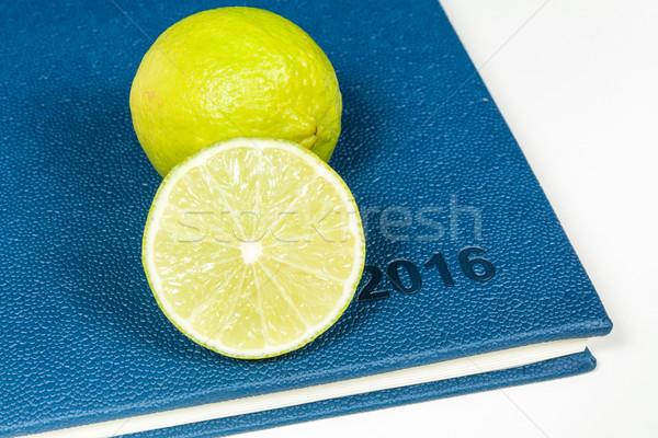 ломтик лимона синий дневнике год 2016 Сток-фото © robinsonthomas
