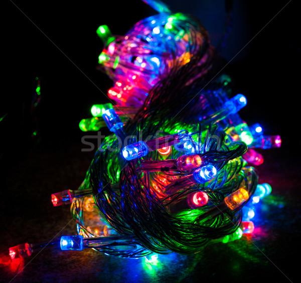Farklı renkli Noel ışıklar kırmızı mavi Stok fotoğraf © robinsonthomas