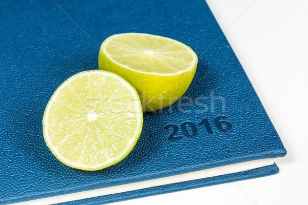 Dilim limon mavi günlük yıl 2016 Stok fotoğraf © robinsonthomas