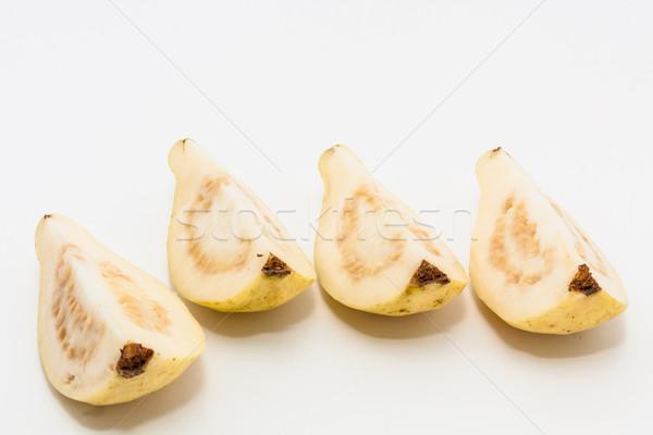 Meyve kesmek dört parçalar gıda yeşil Stok fotoğraf © robinsonthomas