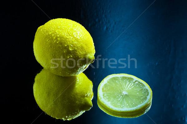 Yansıma ayna meyve limon diyet Stok fotoğraf © robinsonthomas