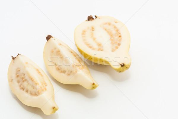 Meyve kesmek üç parçalar gıda yeşil Stok fotoğraf © robinsonthomas
