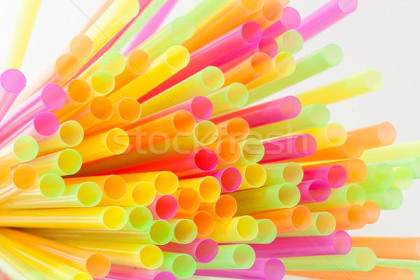 Vibrant colors drinking straws plastic type Stock photo © robinsonthomas