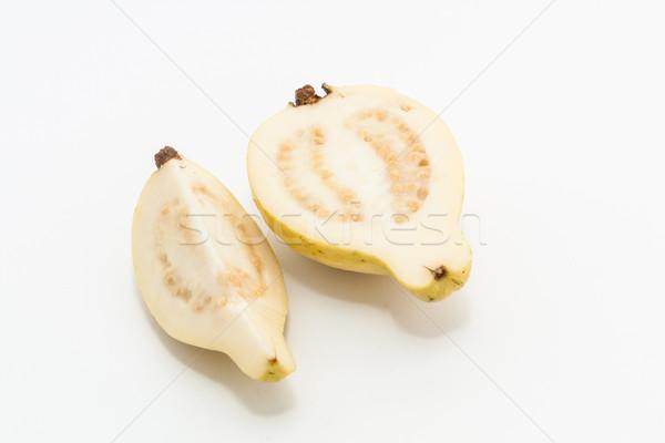 Meyve kesmek iki parçalar gıda yeşil Stok fotoğraf © robinsonthomas
