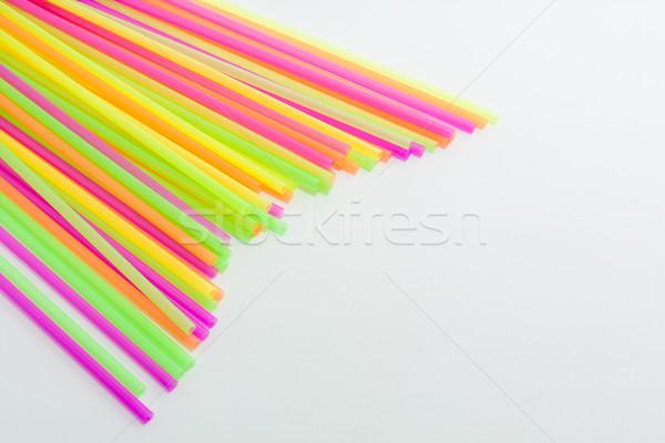 Canlı renkler içme plastik tip renkli Stok fotoğraf © robinsonthomas