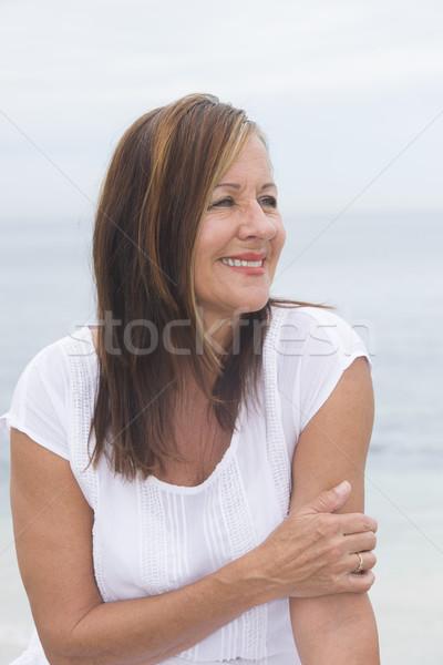 幸せ シニア 女性 屋外 肖像 ストックフォト © roboriginal