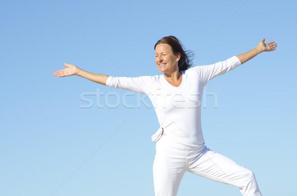 Active retirement woman Stock photo © roboriginal