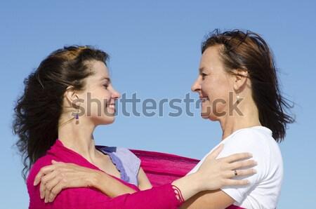 Escalating argument between mother and daughter. Stock photo © roboriginal