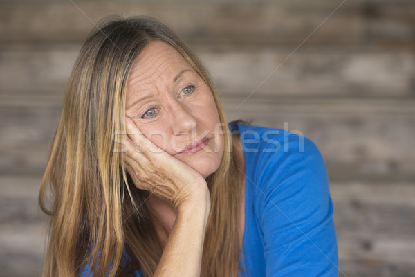 Portrait bored lonely depressed woman Stock photo © roboriginal