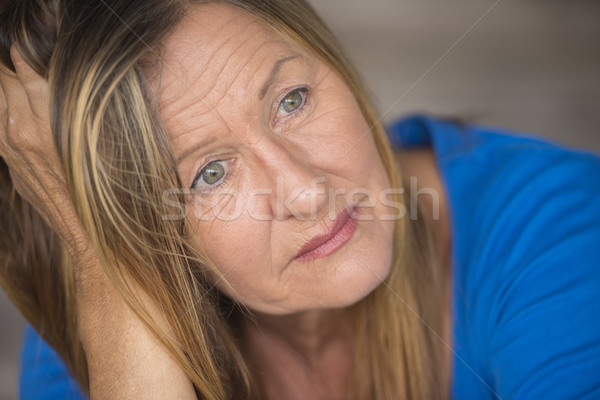 Sad stressed depressed woman portrait Stock photo © roboriginal