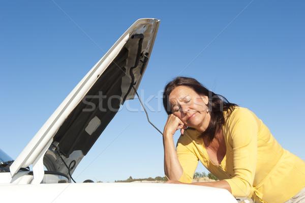 Woman car breakdown Stock photo © roboriginal