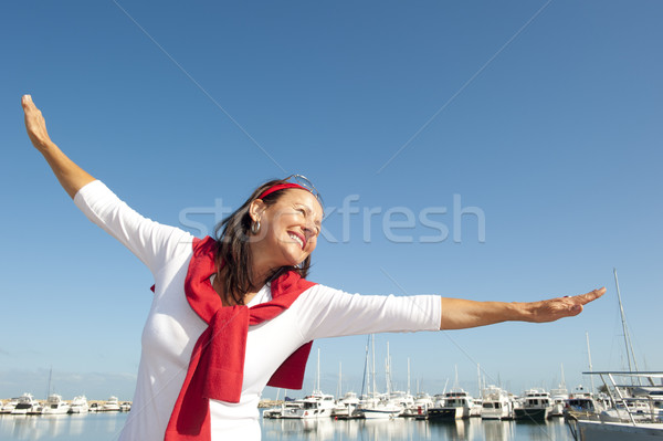幸せ 女性 アクティブ 魅力的な ストックフォト © roboriginal