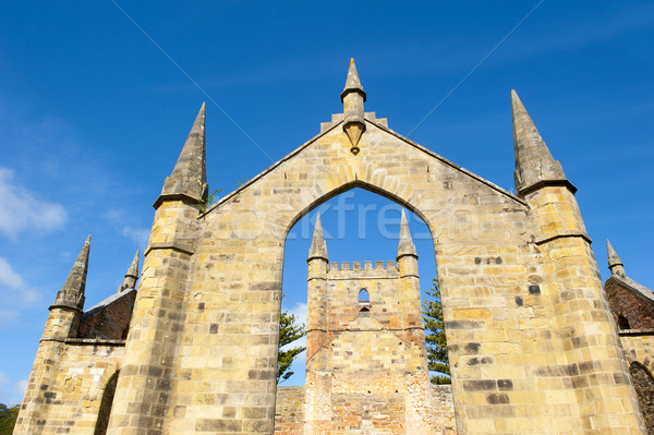 Port tasmanie église monde patrimoine Photo stock © roboriginal