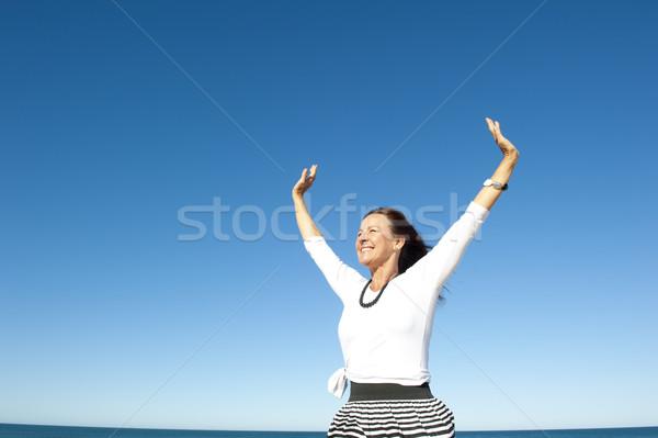 喜び 成功した 女性 魅力的な 見える 成熟した女性 ストックフォト © roboriginal
