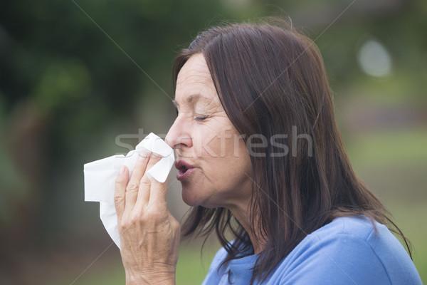 女性 インフルエンザ 花粉症 肖像 ストックフォト © roboriginal