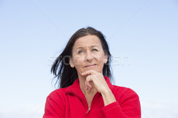 Thoughtful attractive mature woman Stock photo © roboriginal