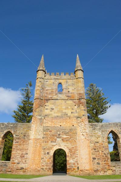 Port église tasmanie monde patrimoine Photo stock © roboriginal
