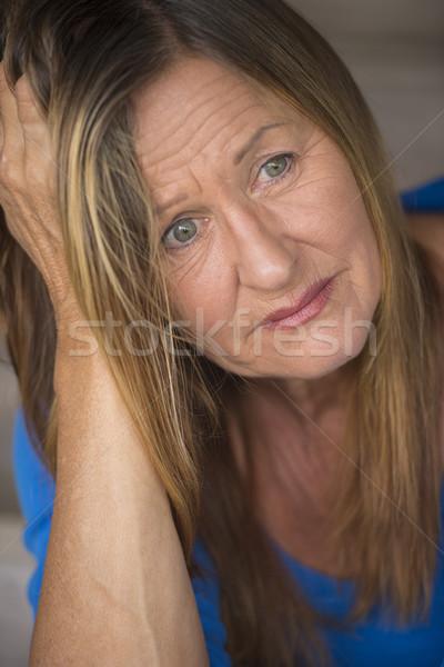 ストックフォト: 悲しい · 孤独 · 落ち込んで · 肖像 · 魅力的な