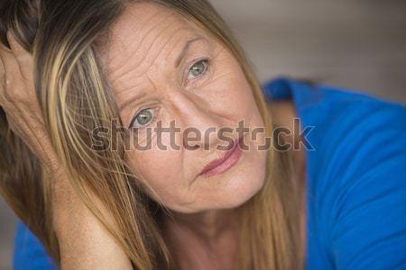 ストックフォト: 肖像 · 退屈 · 落ち込んで · 魅力的な