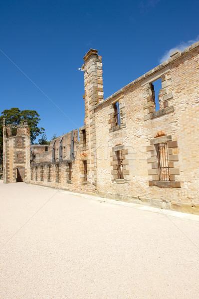 Haven gevangenis ruïneren tasmanië wereld Stockfoto © roboriginal