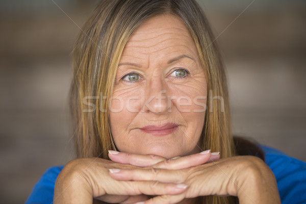 Thoughtful confident woman relaxed portrait Stock photo © roboriginal