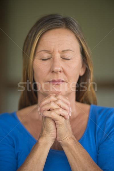 女性 祈っ 濃縮された 魅力的な 宗教 ストックフォト © roboriginal