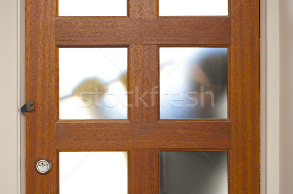 Robber breaking in house with crowbar Stock photo © roboriginal