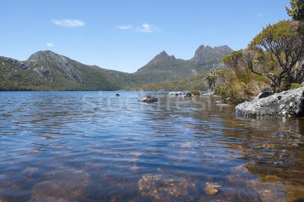 Göl güvercin beşik dağ tazmanya Avustralya Stok fotoğraf © roboriginal