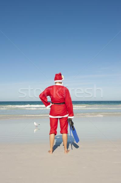 Santa Claus Christmas Beach Vacation Stock photo © roboriginal