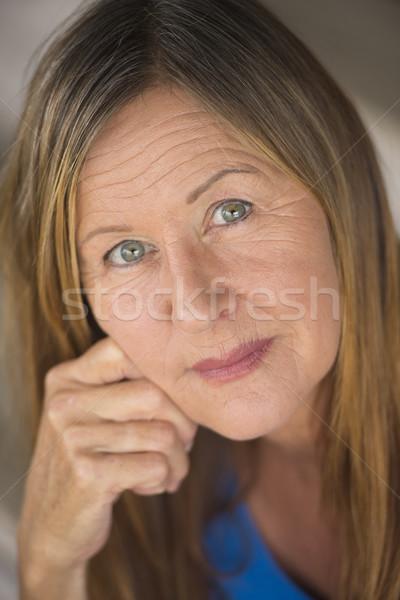 Confident relaxed lady woman portrait Stock photo © roboriginal