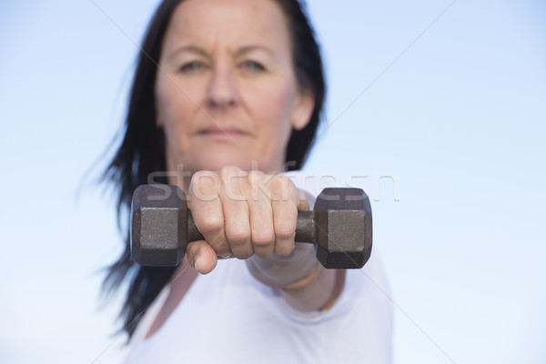 Confident sporty fit healthy mature woman Stock photo © roboriginal